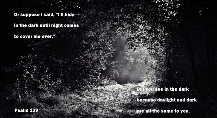 Psalm 139 Where can I hide? Even the night is as day to you O Lord